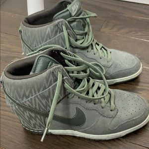 Nike dunk sky high wedges